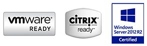 Citrix, Microsoft, and VMware certified